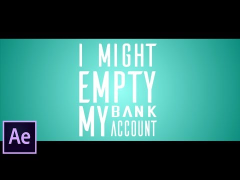 Kinetic Typography - Easy After Effects Tutorial