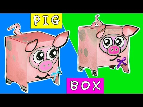 Amazing DIY Gift Box PIG | Easy DIY paper crafts Ideas