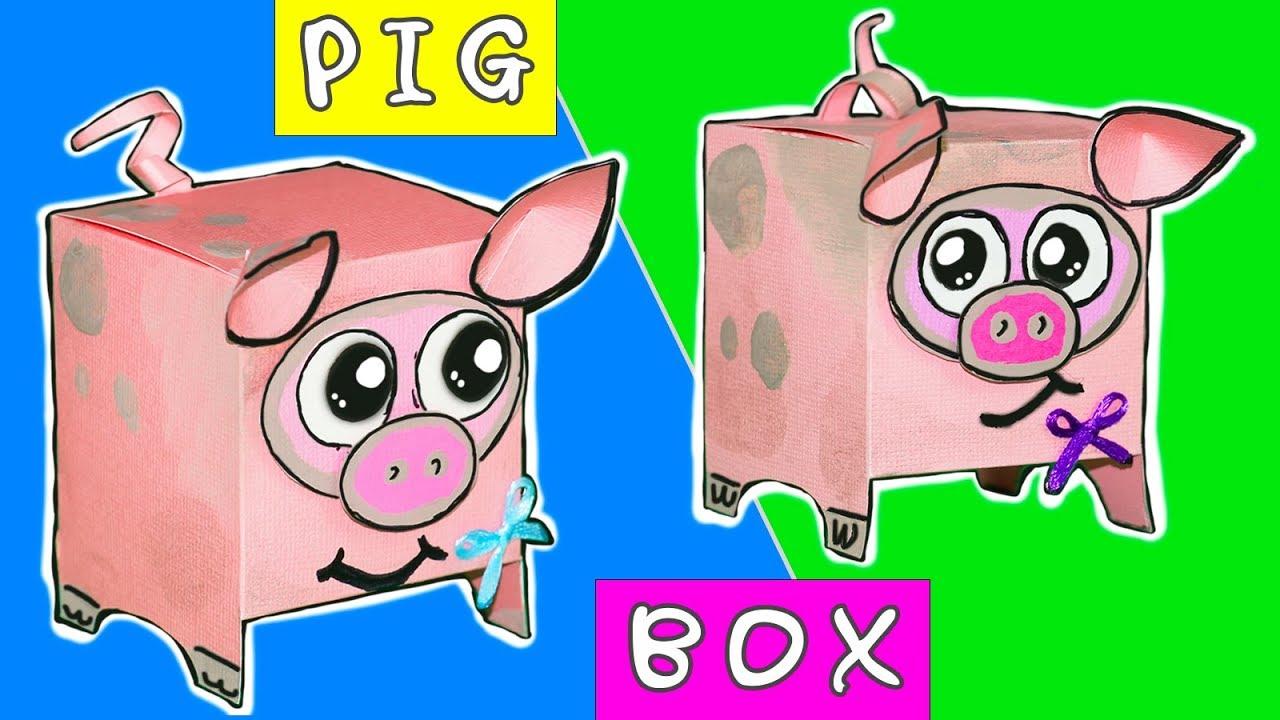 Amazing DIY Gift Box PIG | Easy DIY paper crafts Ideas
