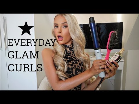 MY EVERYDAY GLAM CURLS ! HAIR TUTORIAL... SUPER EASY !