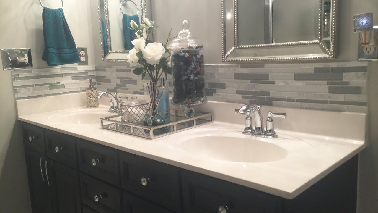 Master Bathroom Decorating Ideas Tour On A Budget Home Decorating Series Youtube