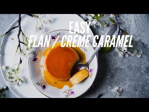 EASY Flan: Creme Caramel Recipe   No Condensed Milk Needed