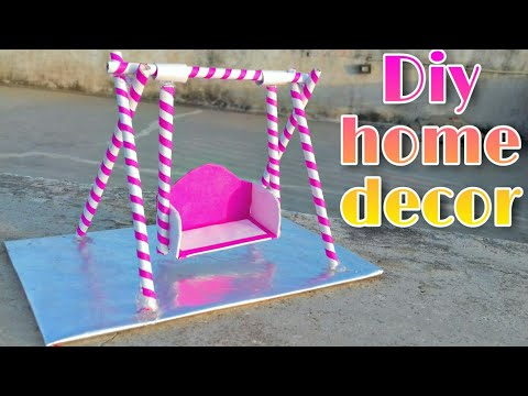 how to make paper swing ; how to make paper jhula ; diy home decoration