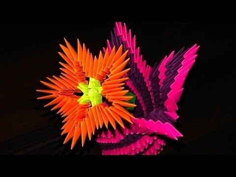 Схемы сборки оригами цветов