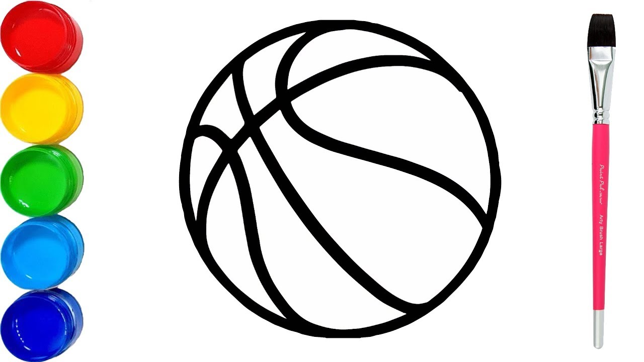 How to draw basketball basketball game ball coloring pages for kids drawing colors for kids