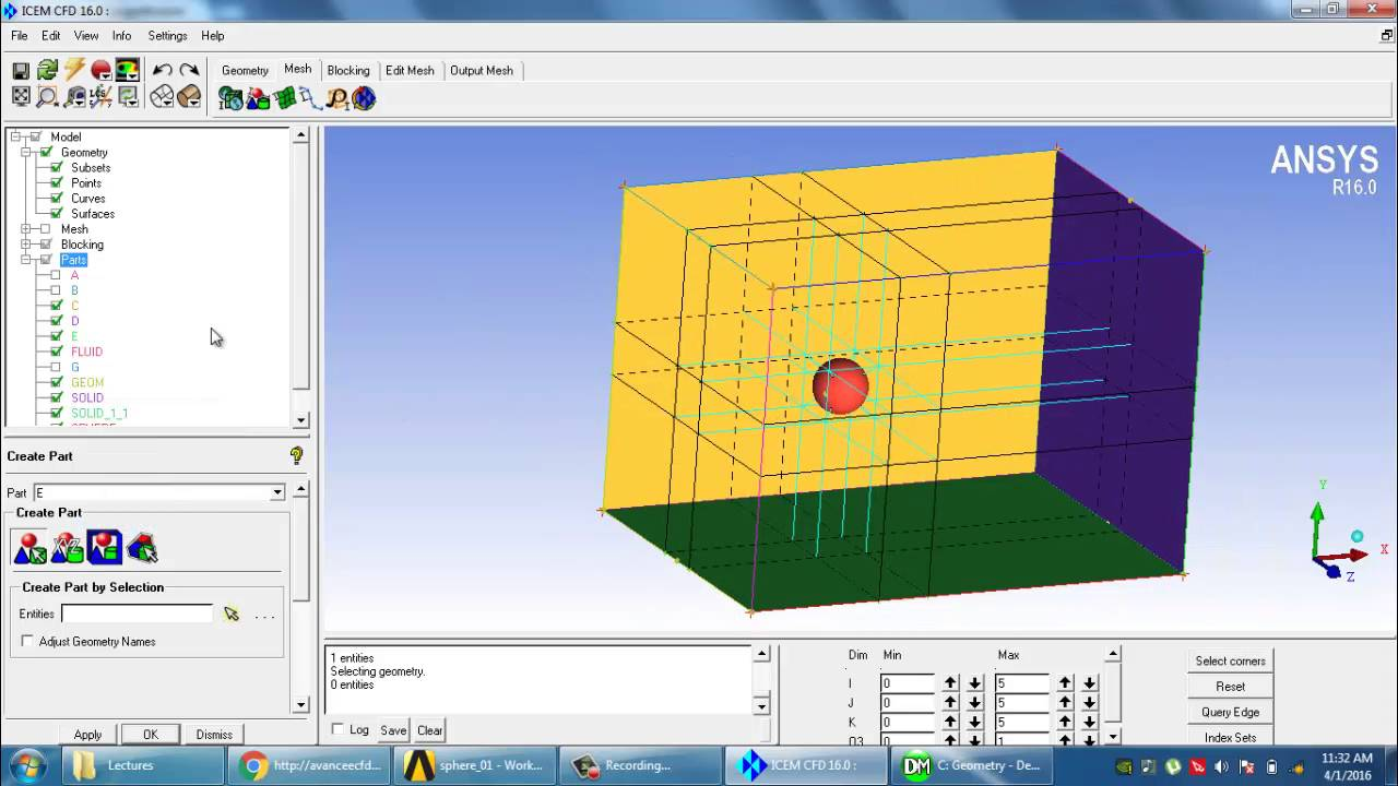 Sphere Hexa Meshing in ICEM CFD