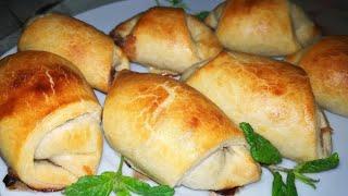 Рогалики или мини круассаны..Рецепт рогаликов.Рецепт Круассанов.Слоеное тесто домашнее.