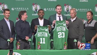 Celtics Introduce Kyrie Irving and Gordon Hayward