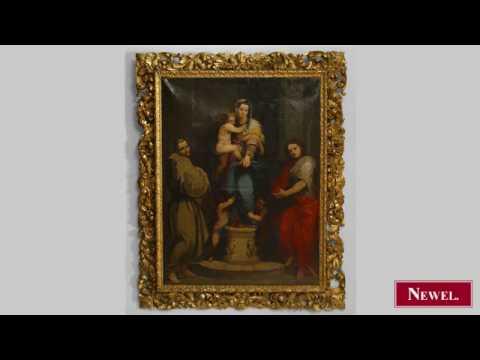Antique Italian Renaissance Style Oil On Canvas Painting