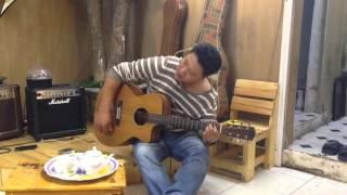 Em đi giữa biển vàng - guitar