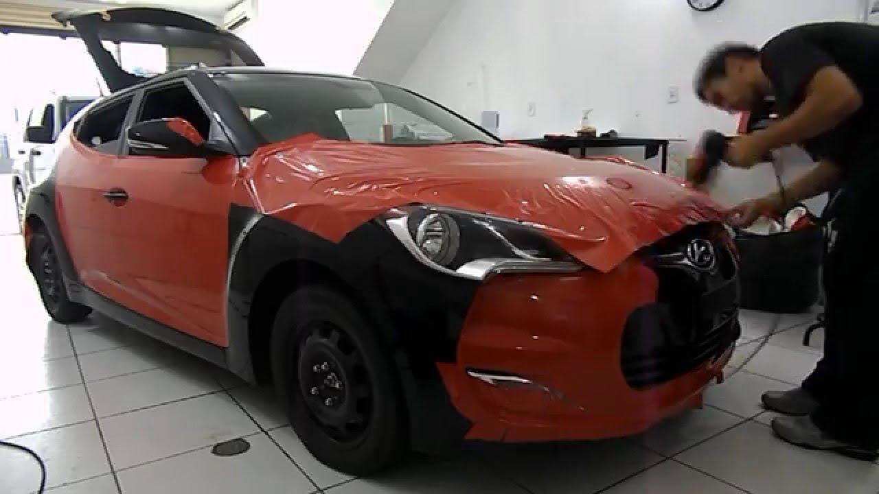 Veloster envelopado em Vermelho alto brilho - HMD Car by HMD Car ... f1760e8f6da