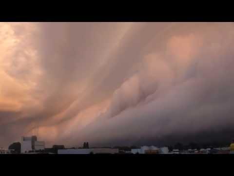 Schitterende shelfcloud in Meppel