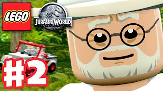 LEGO Jurassic World - Gameplay Walkthrough Part 2 - Welcome to Jurassic Park! (PC)