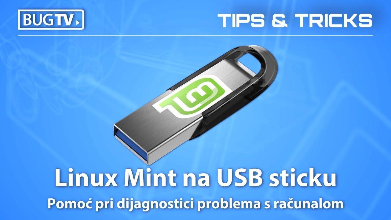 Izrada bootabilnog USB sticka s live Linuxom! (How To Install Linux Mint To  USB flash drive?)