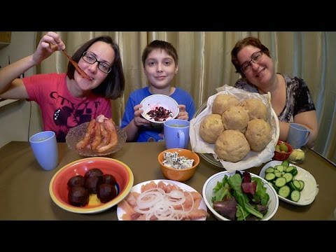 Sprouted Spelt Bread, Bacon, Salted Salmon, Blue Cheese and Vegetables | Gay Family Mukbang