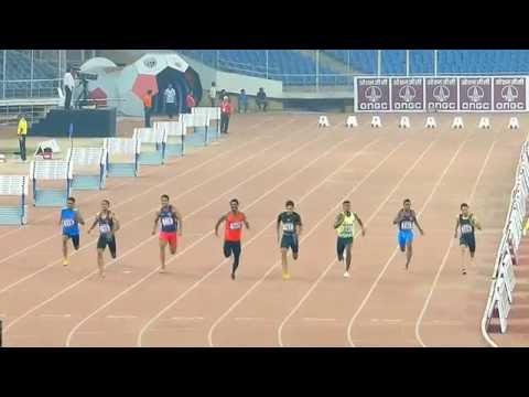 100M Run Final   .  Sr, Open National Athletics Championships-2014. New Delhi.