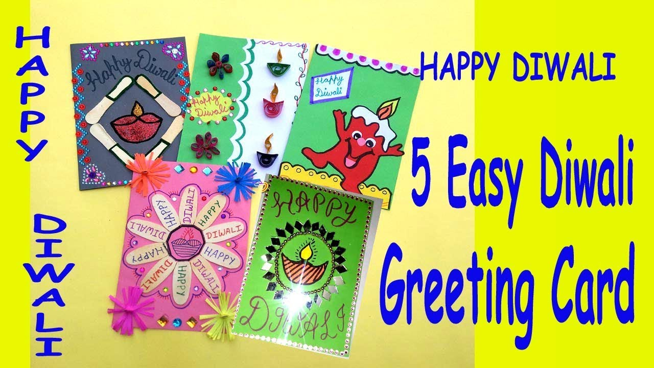 5 easy handmade cards for diwali diy greeting card diwali cards 5 easy handmade cards for diwali diy greeting card diwali cards for school kids by parth world kristyandbryce Gallery
