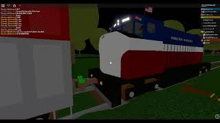 ROBLOX RRR Railroad Crossing with Rotating Stop Signs