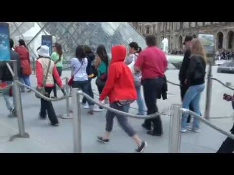 Waiting Line at the Louvre Museum in Paris
