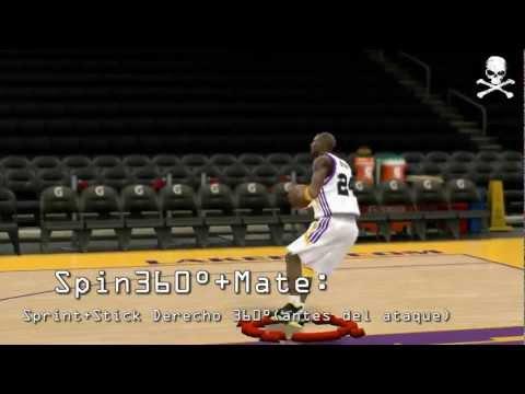 NBA 2K12 Mates para Noobs y 360º Dunks - TUTORIAL