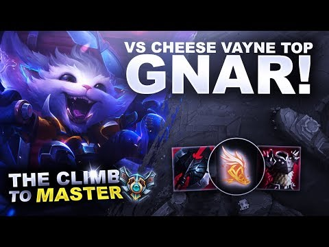 GNAR! Vs CHEESE VAYNE TOP - Climb to Master | League of Legends thumbnail