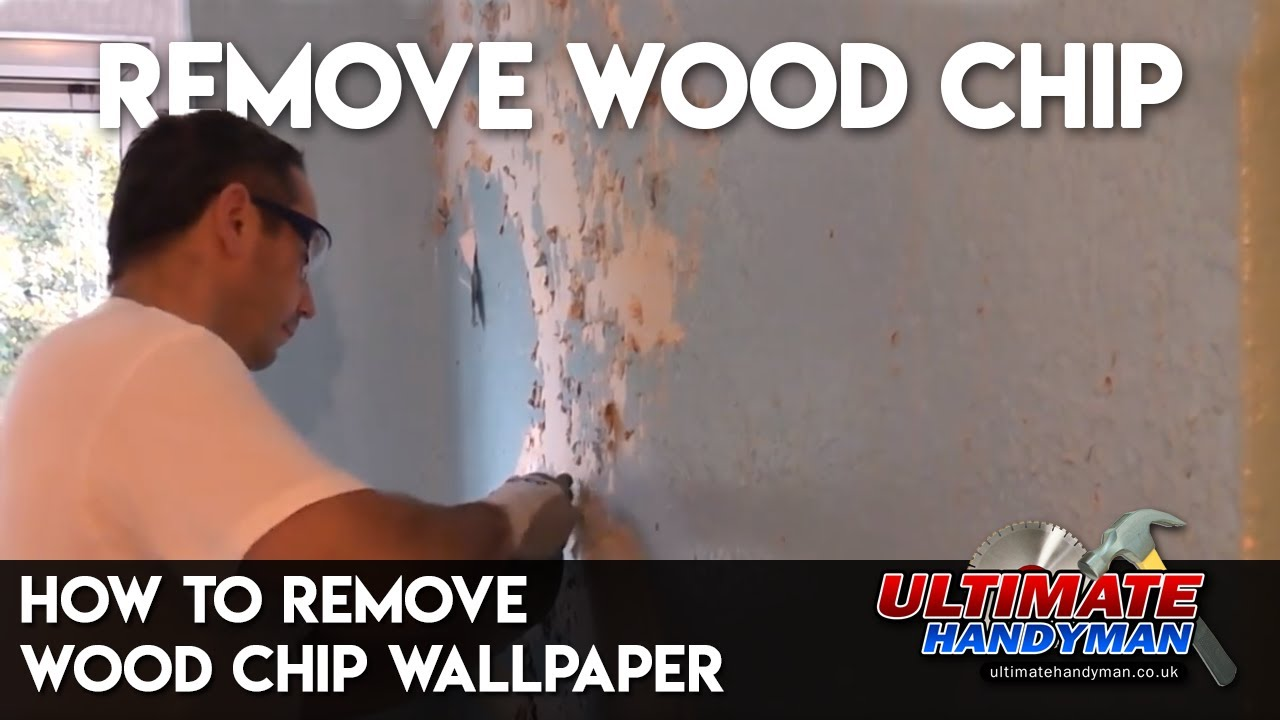 how to strip woodchip