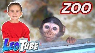 Leo Va Al Zoo con la familia
