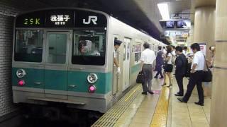 Repeat youtube video 千代田線赤坂駅203系マト63入線209系1000番台マト81到着
