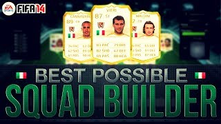 BEST POSSIBLE ITALY TEAM! w/LEGEND CARDS | FIFA 14 Ultimate Team Squad Builder