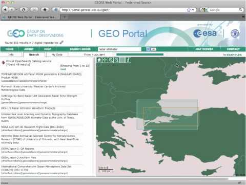 Web 2.0 protocols for discovery and access to Earth Observation data products