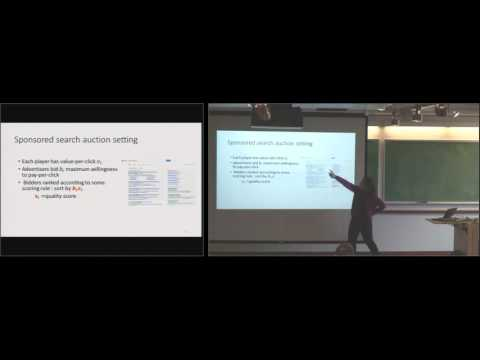 "Eva Tardos: ""Econometrics for Learning Agents"" - 3/7/16 - Ford ITW"