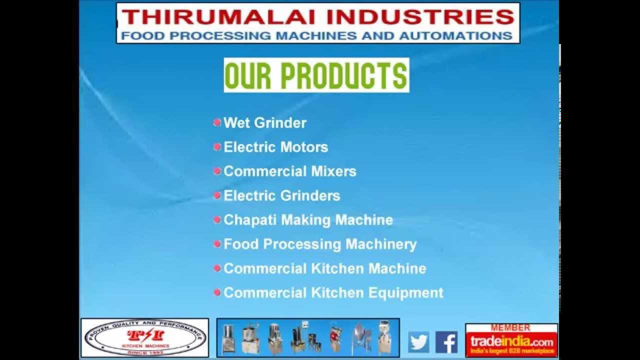 Thriumalai Industries, Coimbatore, Tamil Nadu, India - YouTube