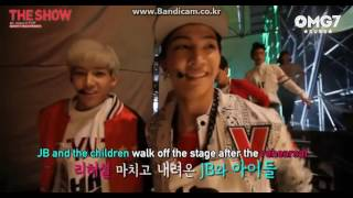 [ENG SUB] 140708 Behind The Show - GOT7 Cut (Rehearsal of My Ear's Candy - JB)