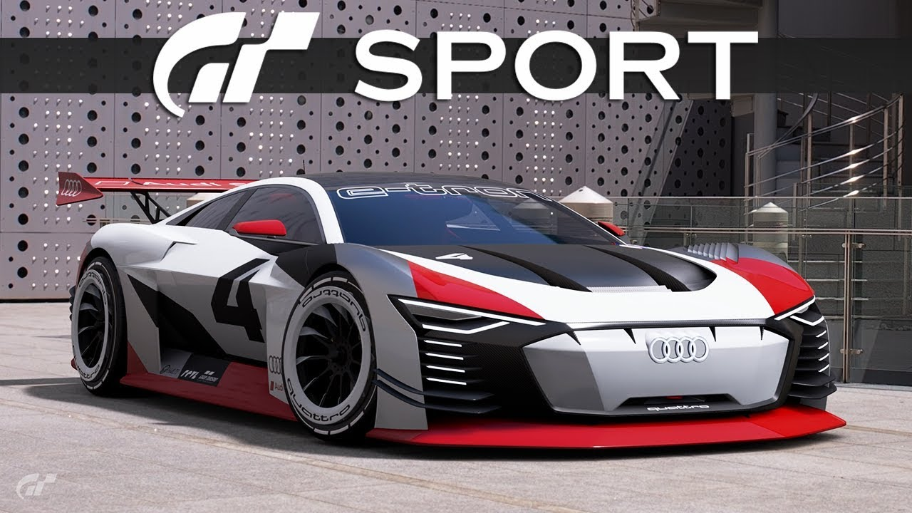 audis elektrische zukunft audi e tron vision gran turismo gt sport ps4 pro youtube. Black Bedroom Furniture Sets. Home Design Ideas