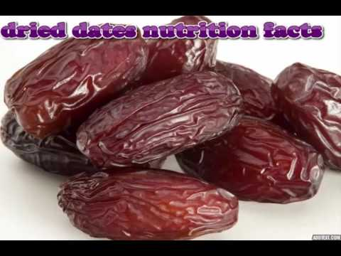 Dried dates nutrition facts