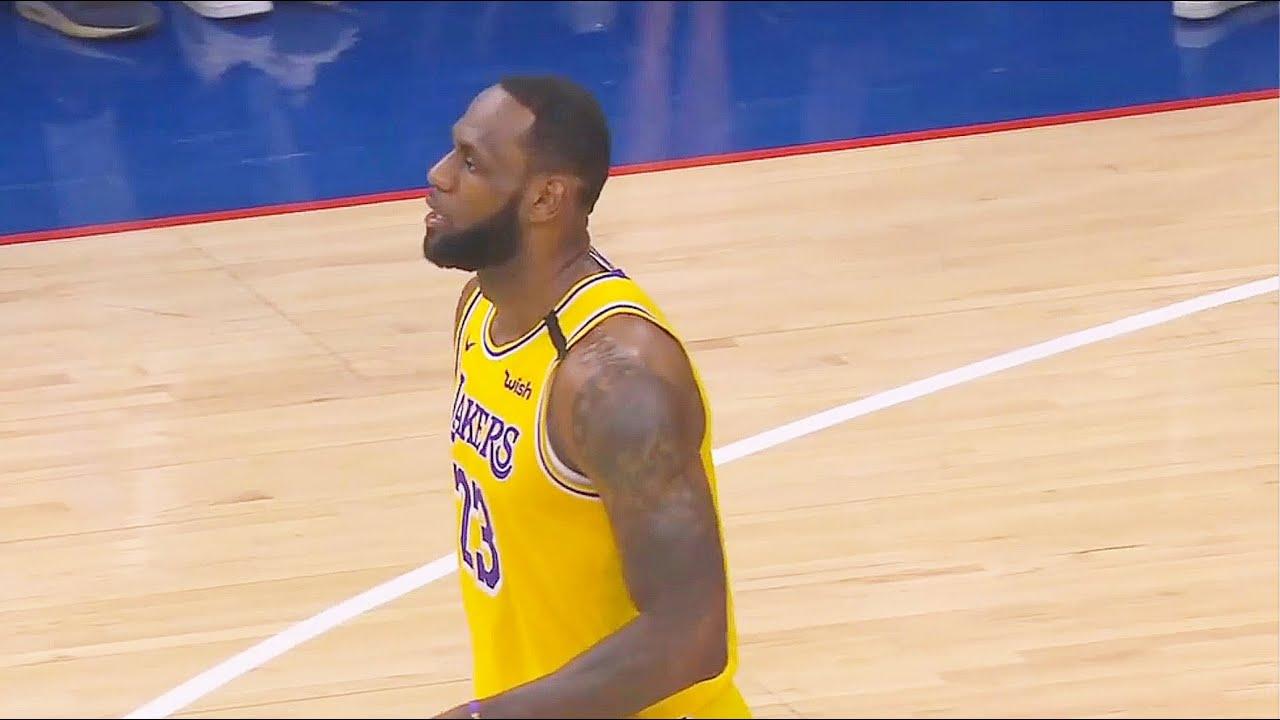 LeBron James Passes Kobe Bryant On All-Time Scoring List! Lakers vs Sixers 2020 NBA Season