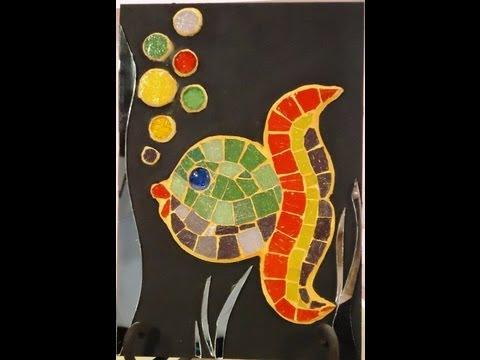 Como hacer mosaiquismo peces sobre fibra de vidrio youtube for Dibujos para mosaiquismo