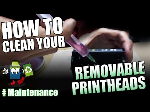 How To Clean A Removable Printhead CANON / HP....