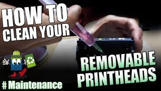 how to clean a removable printhead canon hp