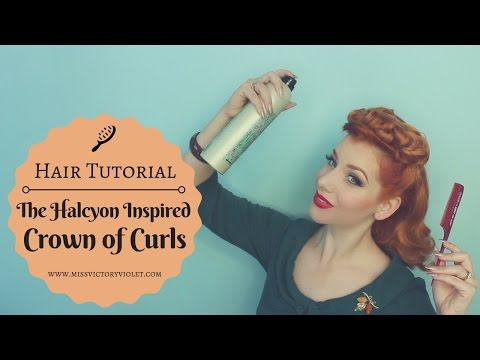 The Halcyon Inspired Vintage Crown of Curls Hair Tutorial