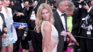 German model Toni Garrn attend the red carpet of Le Petit Prince in Cannes