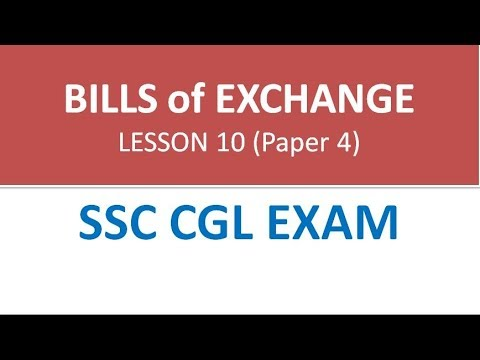 Bills of Exchange for SSC CGL paper 4 (Accounts and Finance)