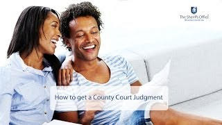How to get a County Court Judgment