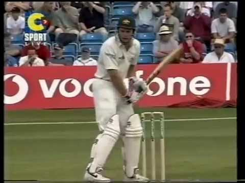 Test debut BALL BY BALL *Simon Katich*  2001 4th test Ashes Cricket