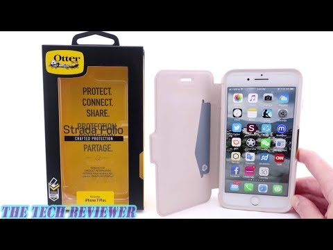 A Leather Folio Case With Drop Protection? Otterbox Strada For IPhone 8 Plus!
