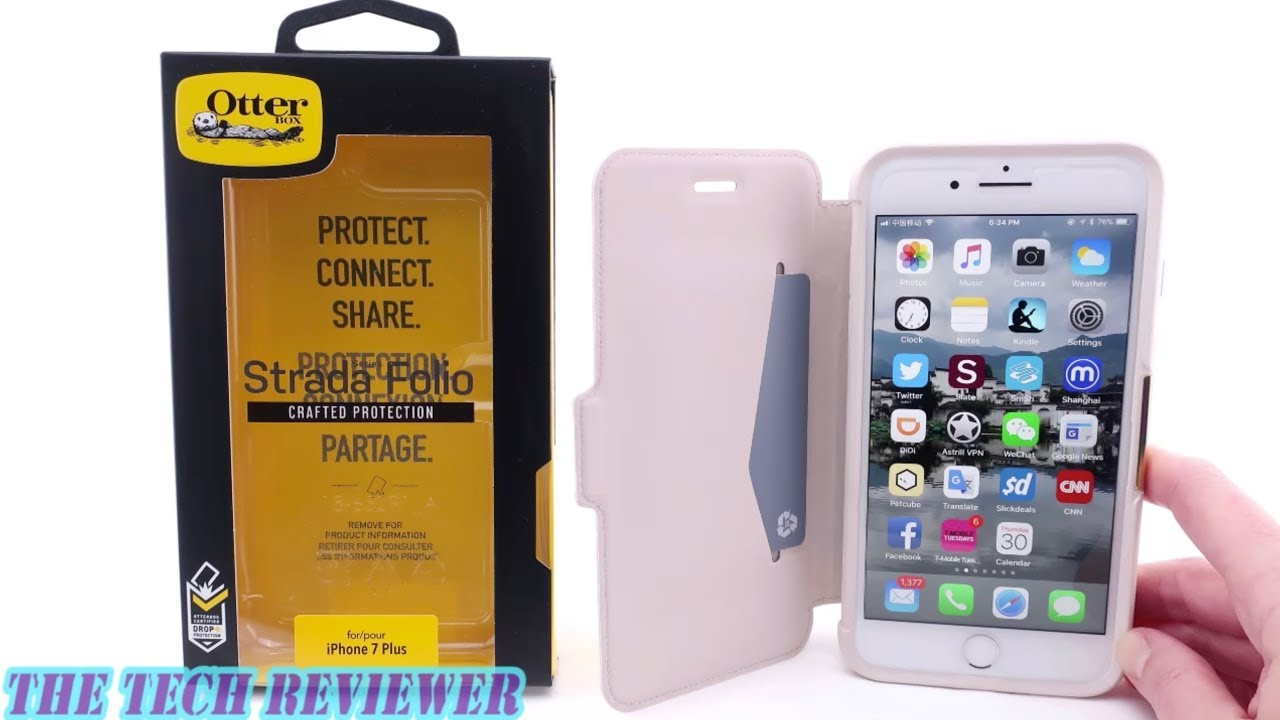 separation shoes df2cb d7a84 A Leather Folio Case with Drop Protection? Otterbox Strada for iPhone 8  Plus!