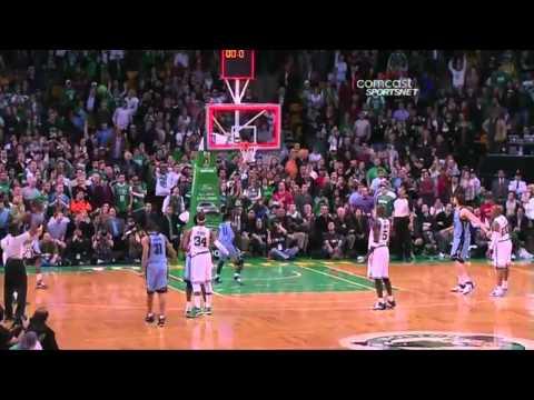 Tony Allen Hilarious reaction to winning against the Celtics