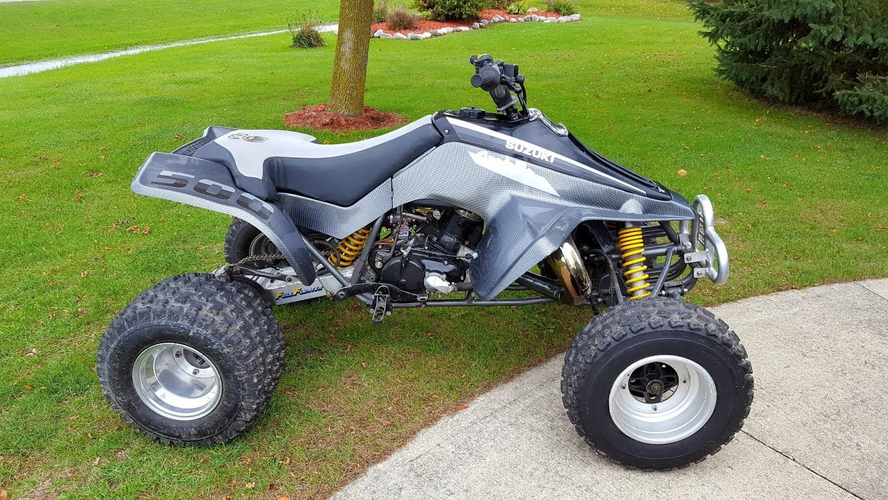medium resolution of full throttle on quadzilla suzuki lt 500 insane speed