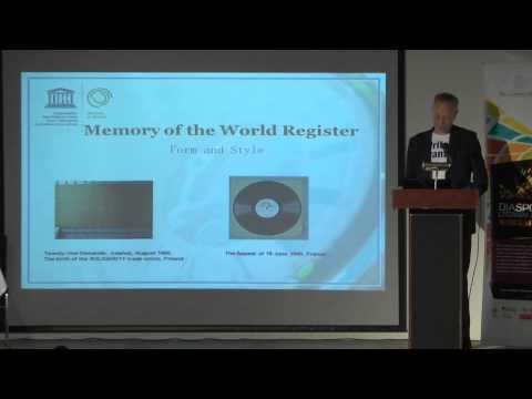 The politics of location: Geographies of value – Jens Boel, UNESCO – Memory of the World Register