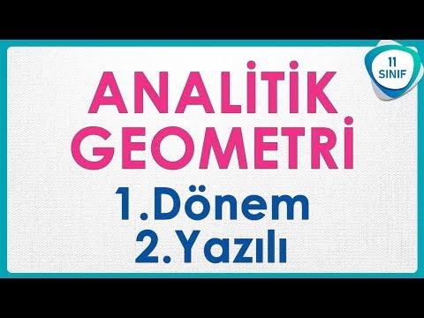 Analitik Geometri 1 Dönem Yazılı Soruları   11. Sınıf Soru Avcısı #soruavcısı